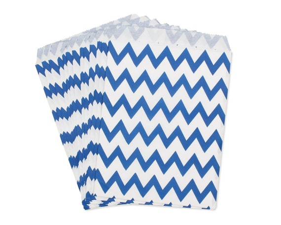 Party Favor Bag, Paper Favor Bags, Dark Blue Chevron Favor Bags, Little Man Baby Shower Favors, Wedding Favor Bags, 1st Birthday Party Favor