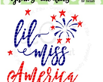 Little Miss America  SVG/DXF file