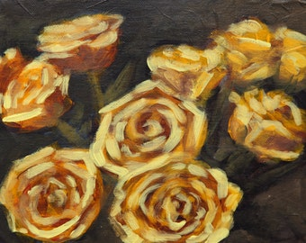 Rose Study 1 Original Painting Acrylic