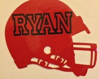 Custom Football Helmet Vinyl Wall Cling