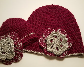 Beanies for mommy and baby/child, mommy and me hat