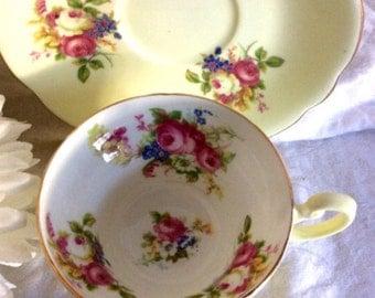 Mid Century Foley bone china tea cup and saucer.