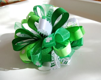 St. Patrick's Day Puff Bow