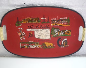 Oklahoma Souvenir Tray Made in Japan