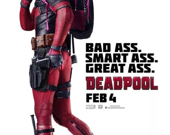 "Deadpool Movie Poster 24""x36"" 2016"