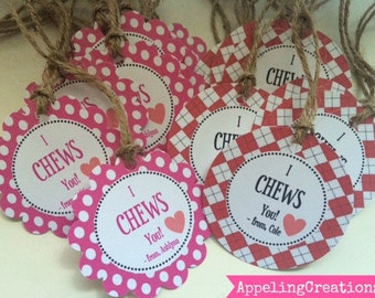 Valentine Tags, Valentine Favor Tags, Kids Party Tags, Valentine Goody Bag Tags