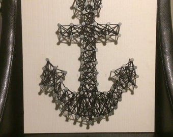 Ahoy Sailor String Art---Black & Grey