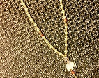 Y-shape elephant necklace