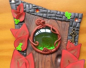 Magic Door Autumn leaves OOAK