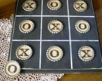 Custom vintage Tic Tac Toe game