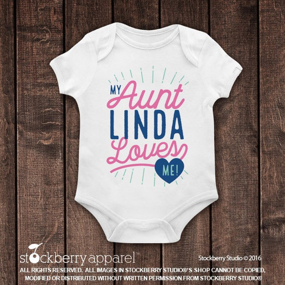 My aunt loves me shirt my auntie loves me custom baby clothes il570xn negle Gallery