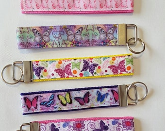 Butterfly key fob wristlet