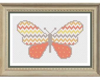 Butterfly cross stitch pattern downloadable pdf