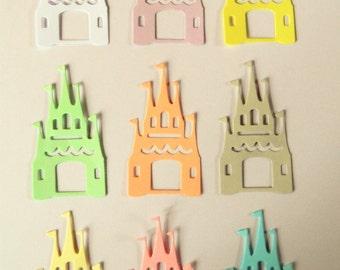 Pastel Castle Die Cuts X 20