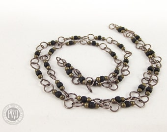 Beaded Wire Link Necklace