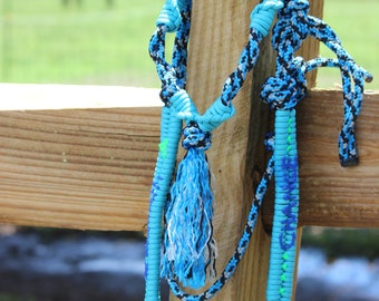 Personalized Custom Riding RopeHeadstall with Paracord