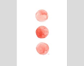 Watercolour Three Dots Art Print