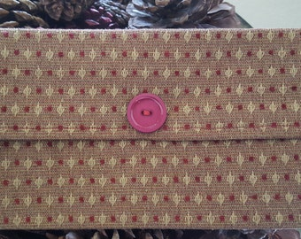 Red and Gold Dotted Tissue Clutch