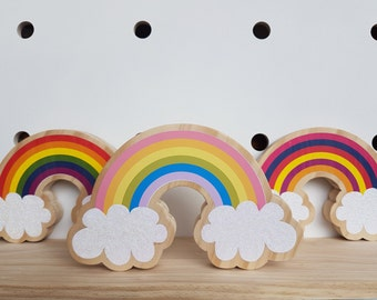 Wooden Rainbow, Rainbow shelf decor, Rainbow, Shelfie, Wooden Decor, Wooden Rainbow, Rainbow Decoration, Nursery