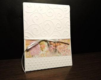 Set of 4 Embossed Blank Note Cards