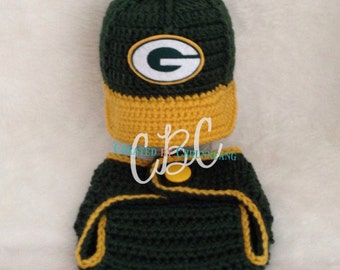 Made to Order Baby Green Bay Packers inspired Football Cap, Hat