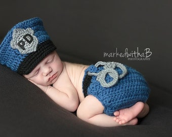 Made to Order Baby Police Officer Cap, Hat