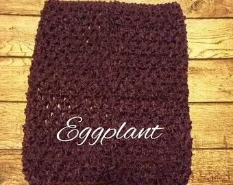 "Medium 7""x6"" Eggplant Purple Crochet Tutu Tube Top - Tutu Top - Halter Top"