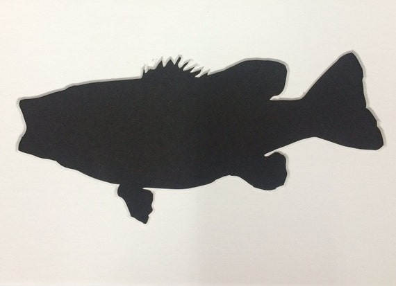 Largemouth Bass Stencil Made From 4 Ply Mat Board From
