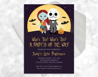Nightmare Before Christmas Baby Shower - Printable - Customized - Baby Shower Invite - 023