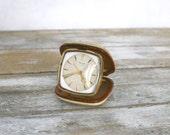 Vintage german travel clock Kienzle 7 Rubis 50s - German travel clock from 1950 s - Small vintage german alarm clock - Vintage pocket watch