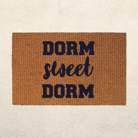 Dorm Sweet Dorm Doormat Welcome Mat Hand Painted Outdoor