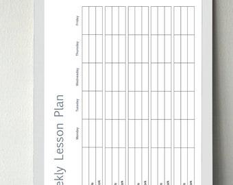 Lesson Plan|Template|Teachers|School Supplies|Stationary|School|Organization|Planner|School Planner| Digital Download|Printable|Customizable
