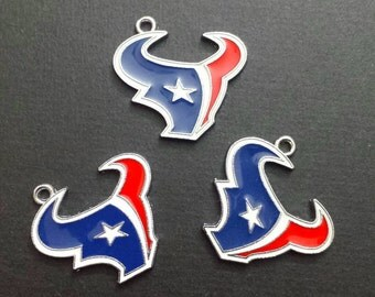 Houston Texans Enamel Charm: 1pc