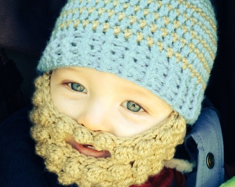 Bearded Beanie for baby, toddler, or child
