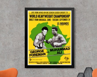 Muhammad Ali George Foreman Rumble In The Jungle Boxing Poster Art Print - Muhammad Ali Poster