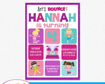 Bounce House Party Printable Invitation