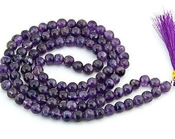 Amethyst Prayer Mala, Meditation Supplies, Gemstone Prayer Mala