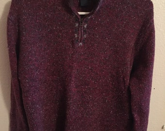 Womens Size L Woolrich Quarter Zip Sweater