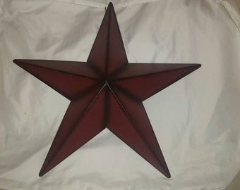 Primitive Metal Star - Red