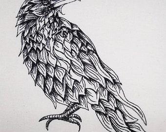 Feathery raven
