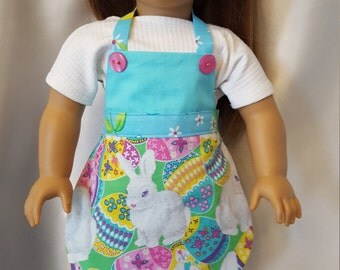 Cute Easter apron for 18 inch doll.