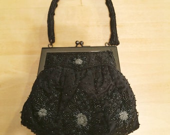 Beaded Black Evening Bag