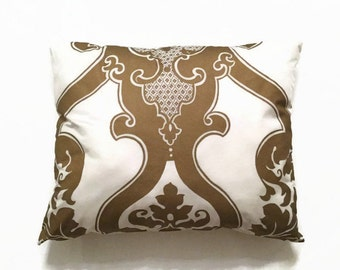 Luxury Decorative Pillow-DESIGNERS GUILD Pillow-Designer Pillow-Luxury Pillow-Gold Silk Pillow-Striped Pillow-Pillow Cover-Throw Pillow
