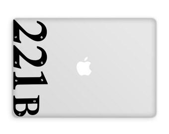 221b Decal - Sherlock Decal / Vinyl Decal / 221b Baker Street / Sherlock