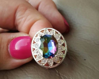 Mystic Fire Topaz Ring- size 6! REDUCED!!