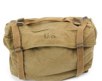 Original U.S. WWII M-1945 Cargo Field Pack - Lower Bag [MU2105]