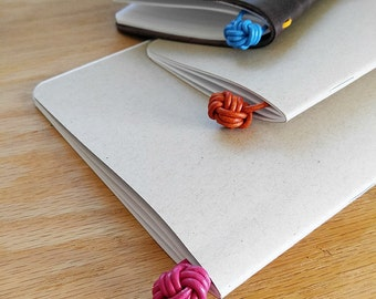 Leather Monkey Fist Knot Bookmark - 15 colors to choose from!