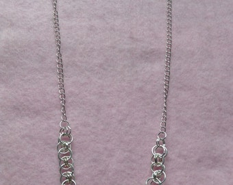 Sterling Silver Chain Maille Necklace.