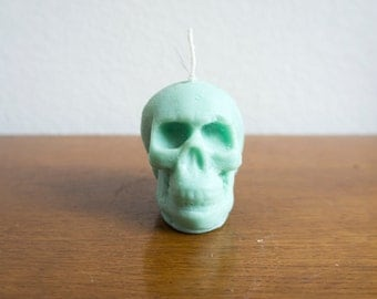 Candle skull green Skully