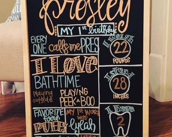My 1st Birthday Board